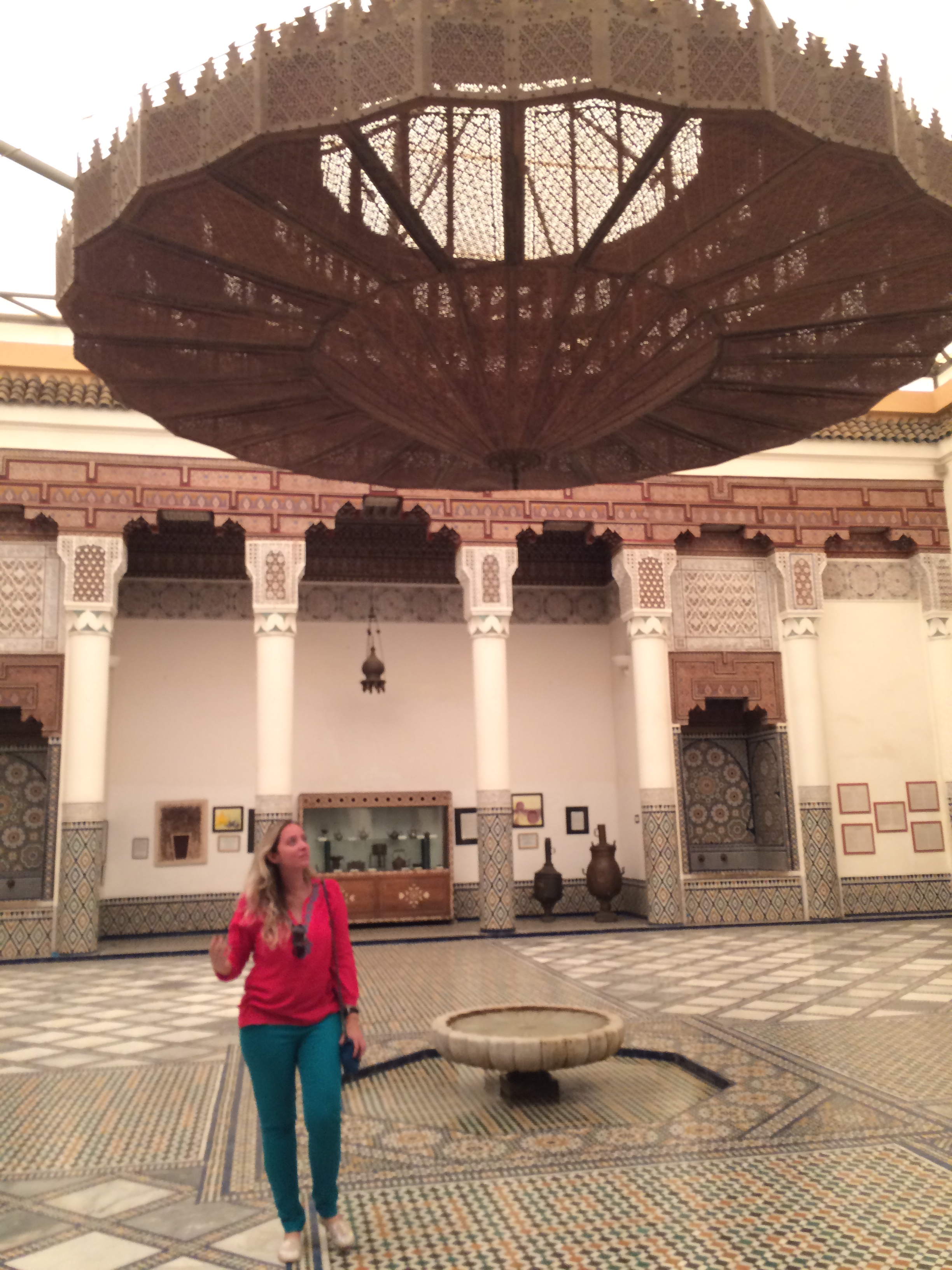 No museu de Marrakech